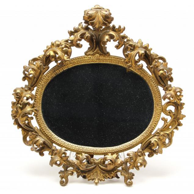 rococo-style-brass-boudoir-mirror