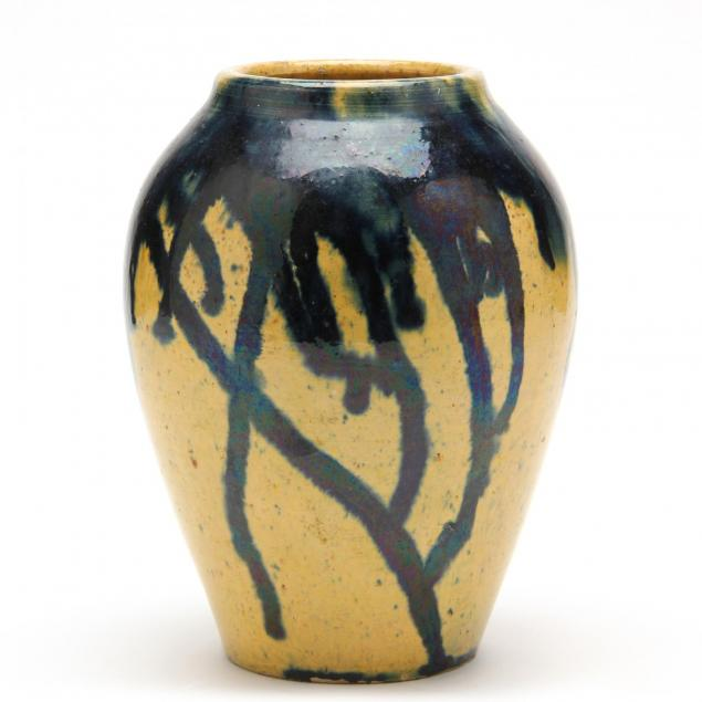 c-r-auman-pottery-tapered-vase