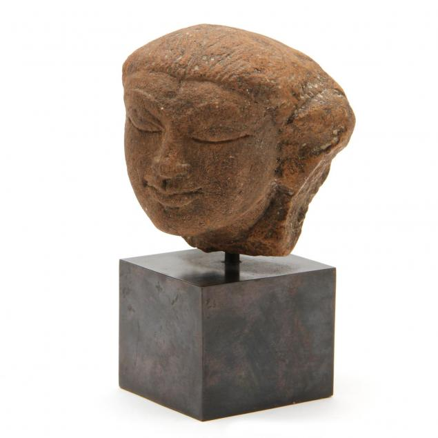 southeast-asian-carved-stone-head