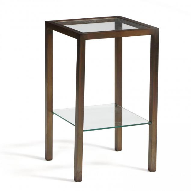 modernist-patinated-brass-side-table
