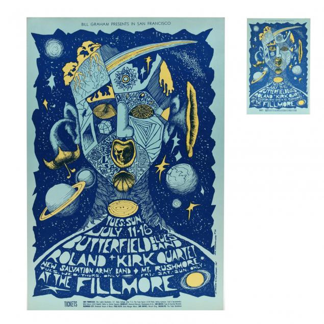 paul-butterfield-blues-band-fillmore-concert-poster-with-postcard-bill-graham-1967
