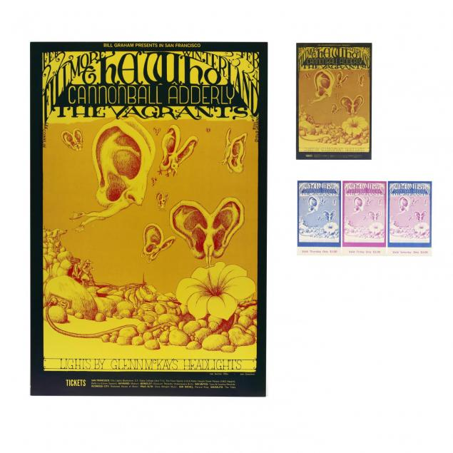 the-who-winterland-fillmore-concert-poster-postcard-and-complete-ticket-set-bill-graham-1968