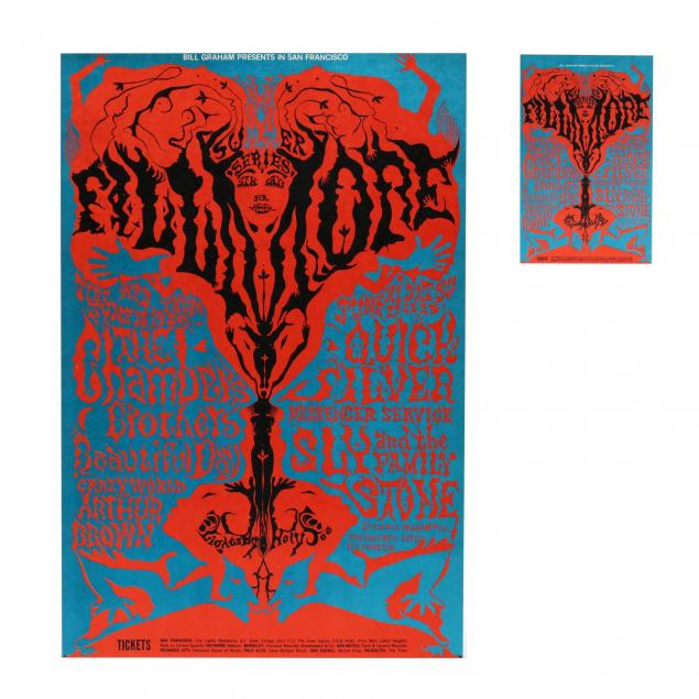 chamber-brothers-fillmore-auditorium-concert-poster-with-postcard-bill-graham-1968