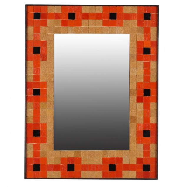 mid-century-tile-framed-mirror