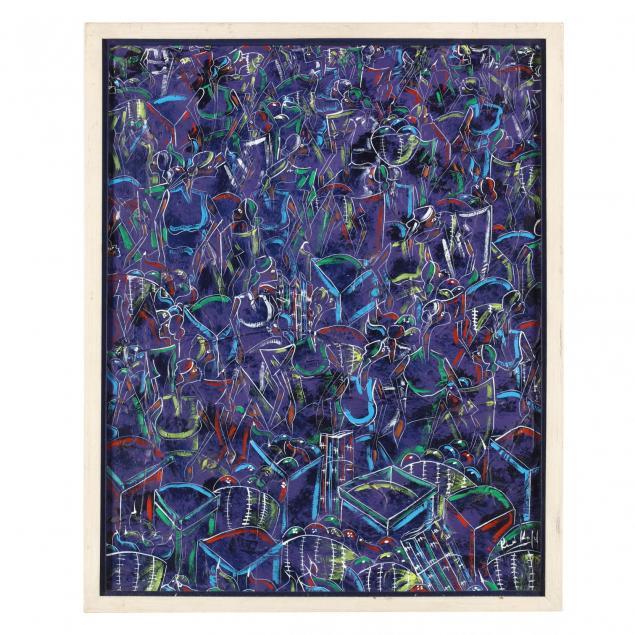 rene-haspil-haiti-b-1954-cubist-style-painting-of-women