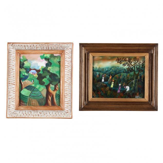 two-haitian-landscape-paintings
