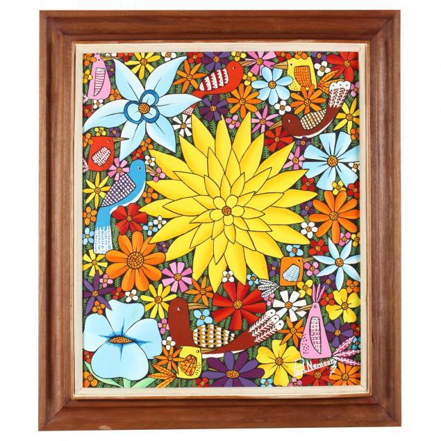 paul-nemours-haitian-20th-century-bright-flowers-and-birds