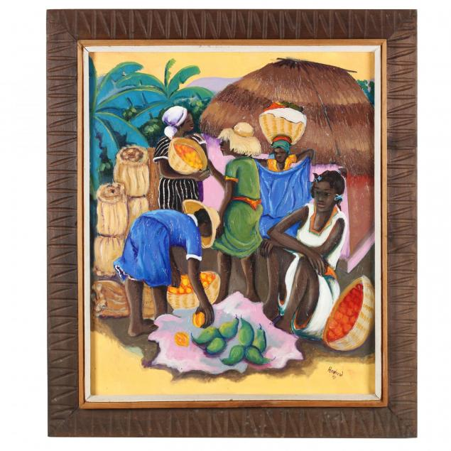 haitian-painting-of-a-produce-market