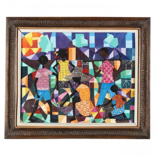 jean-coach-haitian-20th-century-cubist-style-genre-scene