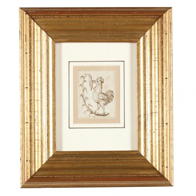 italian-renaissance-drawing-of-a-rooster