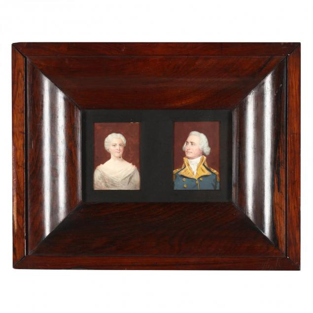 a-pair-of-portrait-miniatures-of-george-and-martha-washington-19th-century