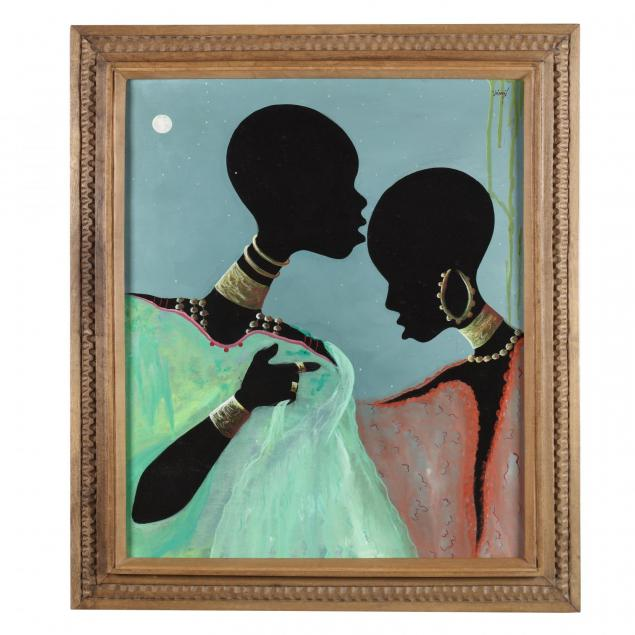 haitian-painting-of-ladies-in-moonlight