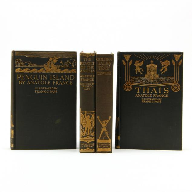four-volumes-of-i-the-works-of-anatole-france-i