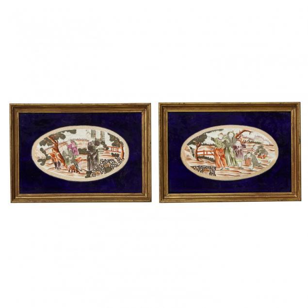 pair-of-continental-porcelain-plaques