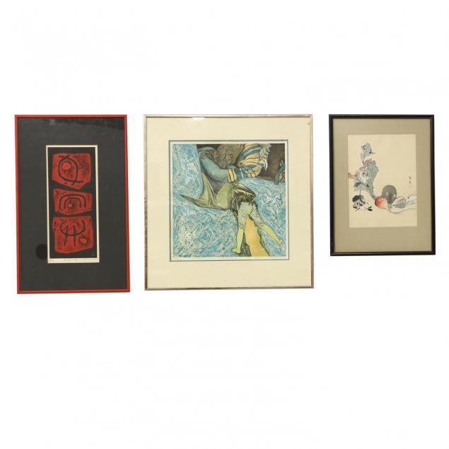 group-of-three-japanese-woodblock-prints
