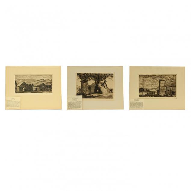 luigi-lucioni-american-italian-1900-1988-three-etchings-picturing-agricultural-settings