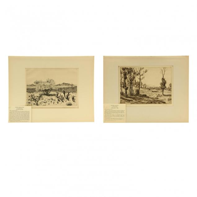 two-landscape-etchings-by-members-of-associated-american-artists-rudolph-and-wire