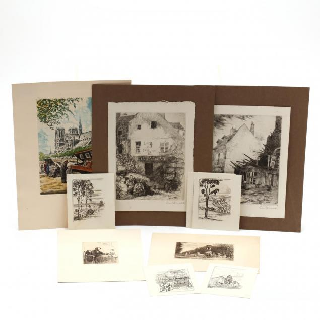 group-of-11-assorted-intaglio-prints