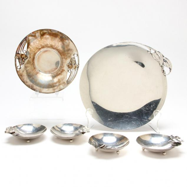 six-sterling-silver-dishes-with-leaf-motif