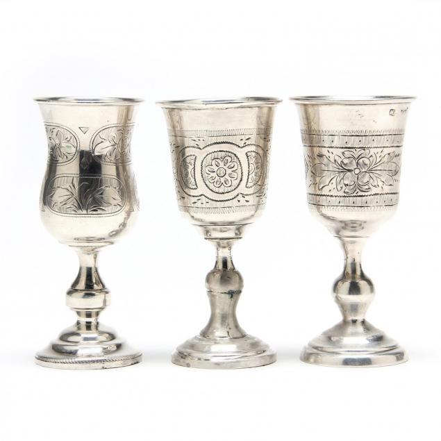 three-antique-russian-silver-kiddush-cups