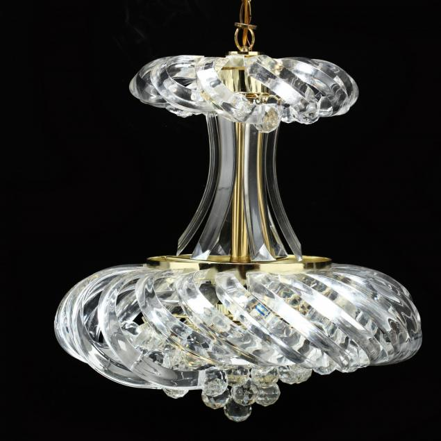 acrylic-and-brass-chandelier
