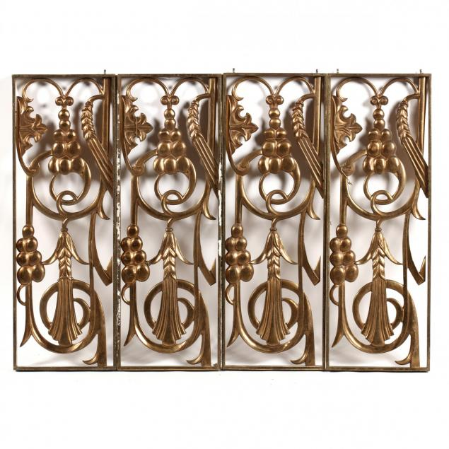 set-of-four-art-deco-brass-architectural-elements