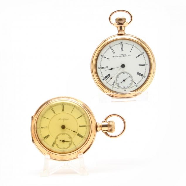 two-vintage-open-face-pocket-watches