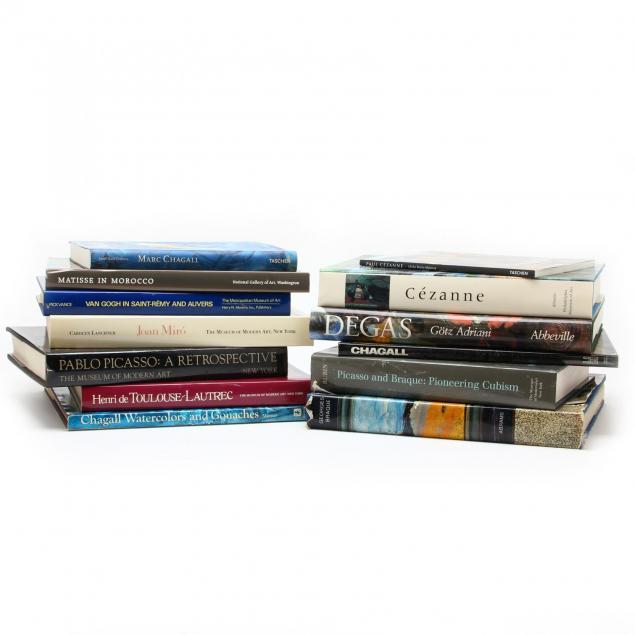 thirteen-books-on-famous-artists