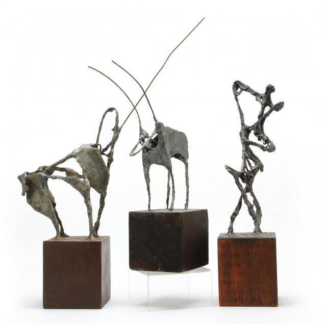 att-ray-fink-az-1922-1988-three-modern-sculptures