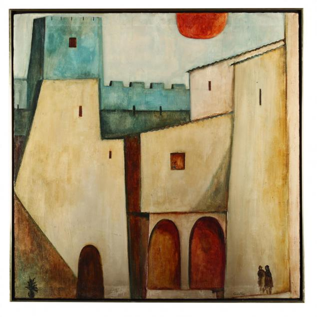 frank-carmelitano-spanish-1935-2003-cityscape