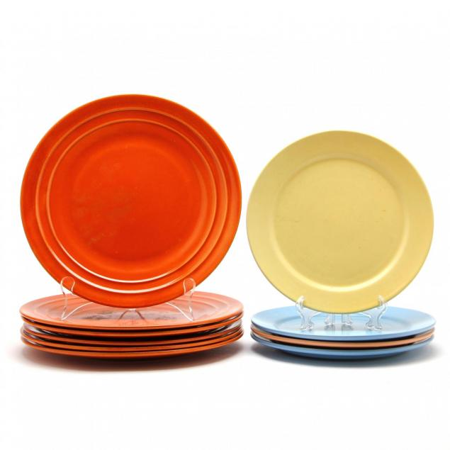 ten-assorted-modernist-dinner-plates