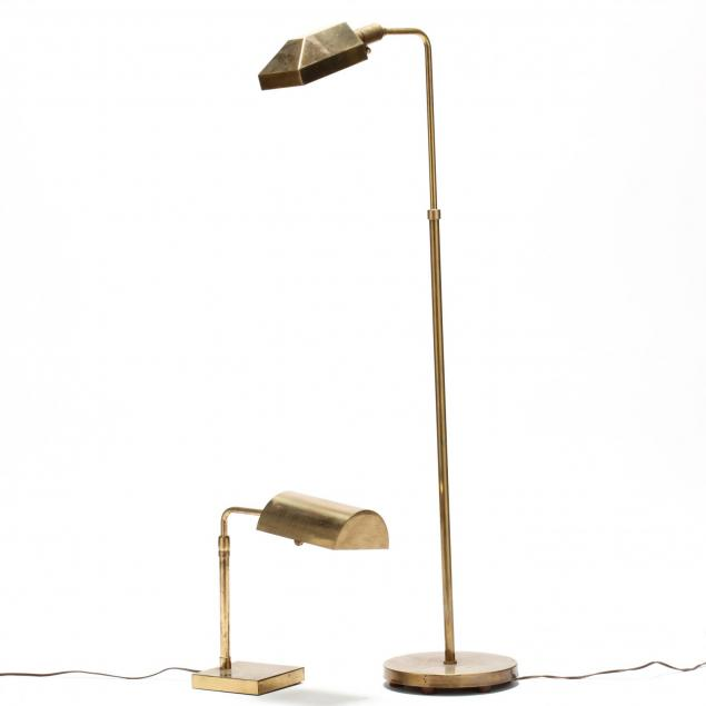 two-modernist-brass-lamps