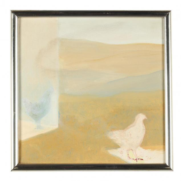 nanette-mize-rogers-nc-1945-2007-modernist-landscape-with-chickens
