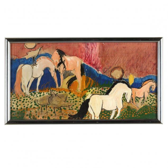 nanette-mize-rogers-nc-1945-2007-untitled-horses