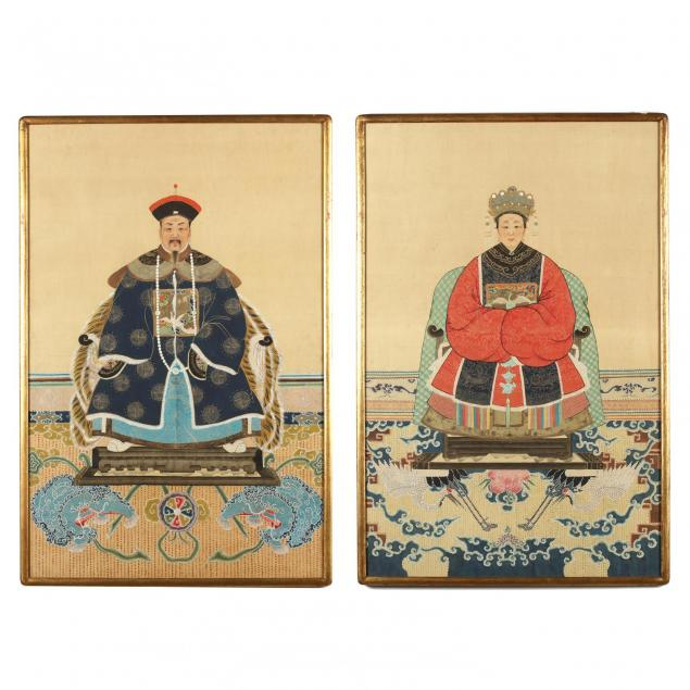 pair-of-chinese-ancestor-portraits