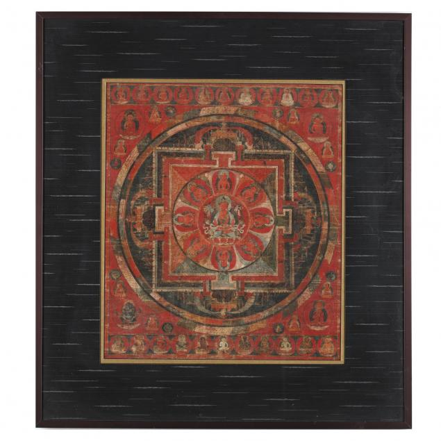 an-early-tibetan-mandala-of-buddha-amitabha