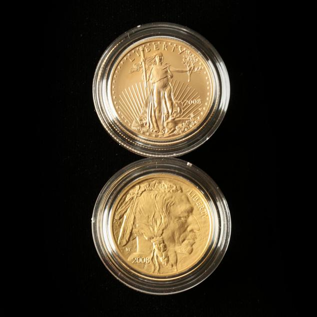 u-s-mint-8-8-08-double-prosperity-set-of-two-half-ounce-gold-bullion-coins