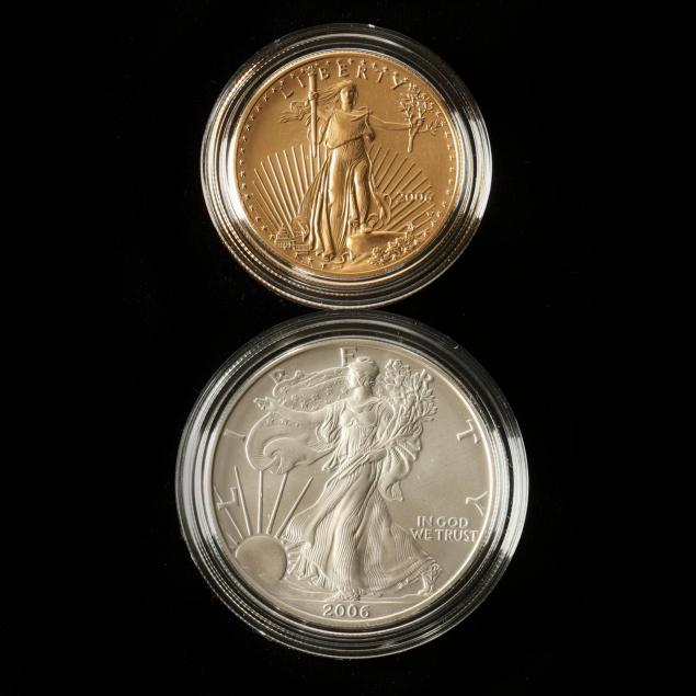 2006-american-eagle-20th-anniversary-gold-silver-coin-set