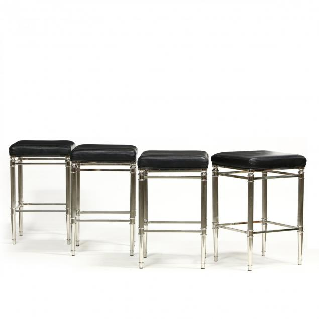 hillsdale-furniture-set-of-four-chrome-and-leather-bar-stools