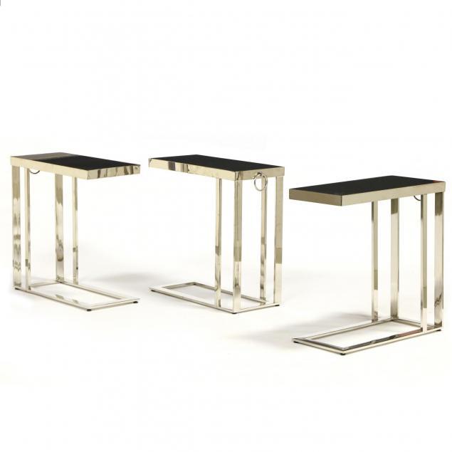 three-modernist-granite-top-side-tables
