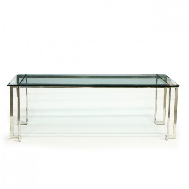 modernist-chrome-and-glass-dining-table