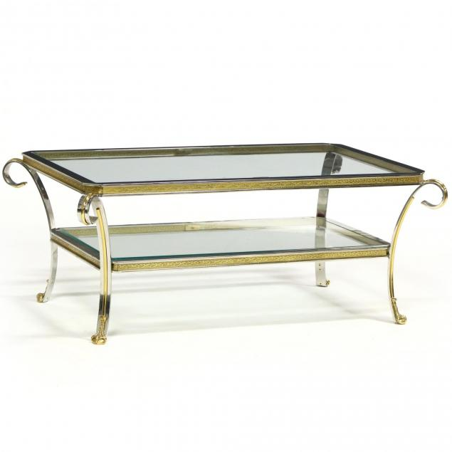 italianate-brass-and-chrome-coffee-table