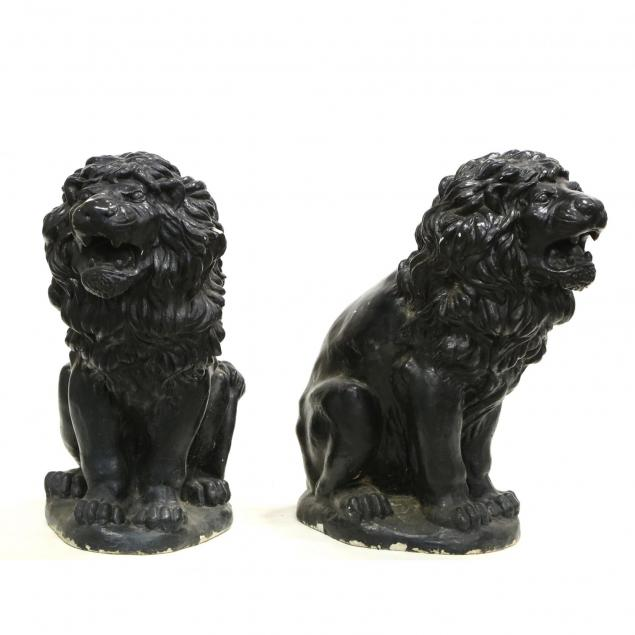 pair-of-large-cast-stone-lions