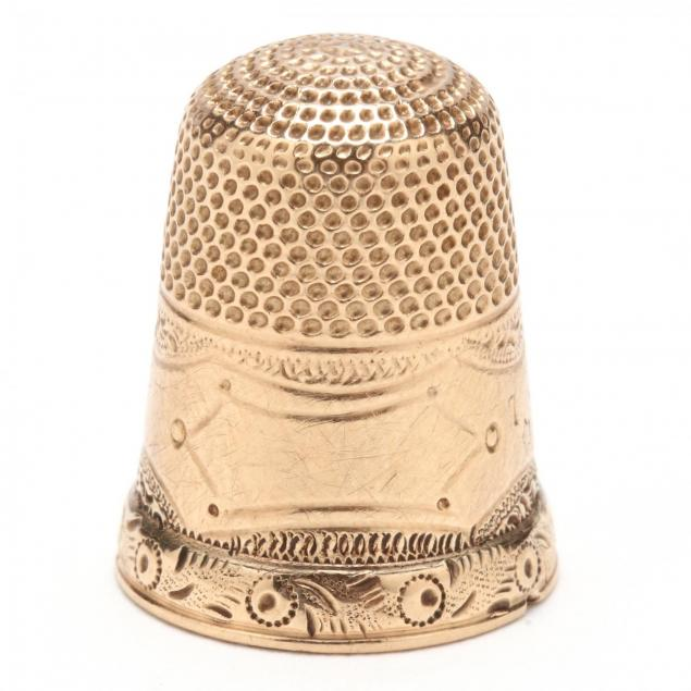 antique-gold-thimble