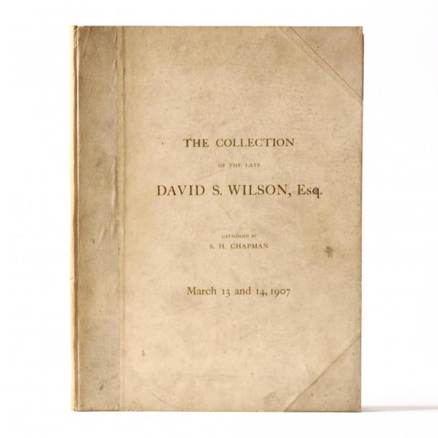 important-1907-chapman-catalogue-of-david-s-wilson-u-s-coin-collection
