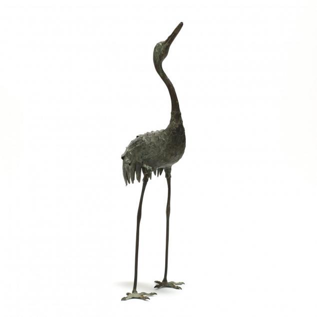 japanese-meiji-period-bronze-standing-crane
