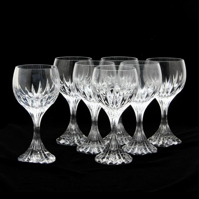 set-of-seven-baccarat-massena-claret-wine-stems