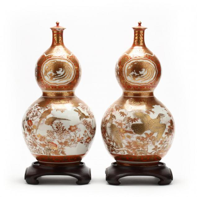 pair-of-japanese-kutani-double-gourd-jars-with-lids