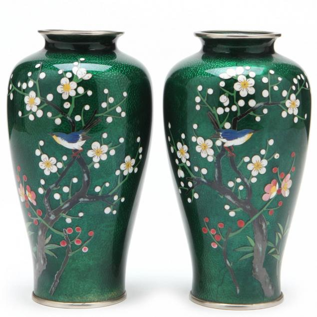 a-pair-of-japanese-ginbari-bird-and-flower-cloisonne-vases