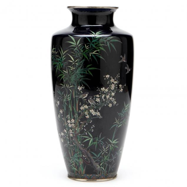 a-japanese-cloisonne-vase-with-bamboo-and-cherry-blossoms